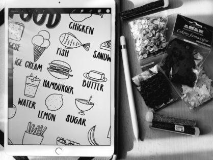 FOOD- rysowane karty pracy dla najmłodszych