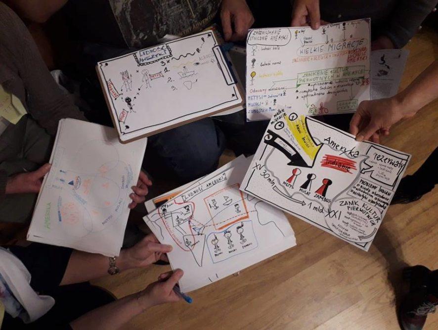 """Warsztaty """"Uczymy jak się uczyć"""" prowadzenie modułu o notatkach wizualnych."""