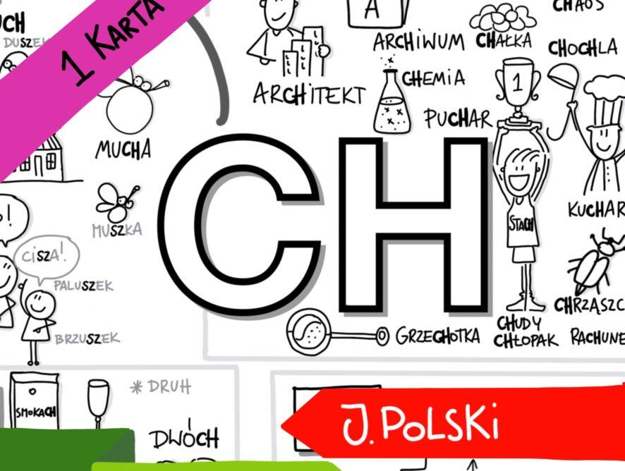 """Obrazkowa karta ortograficzna """"CH"""""""