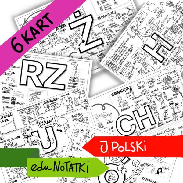 KARTY ortograficzne rysowane zasady ortograficzne