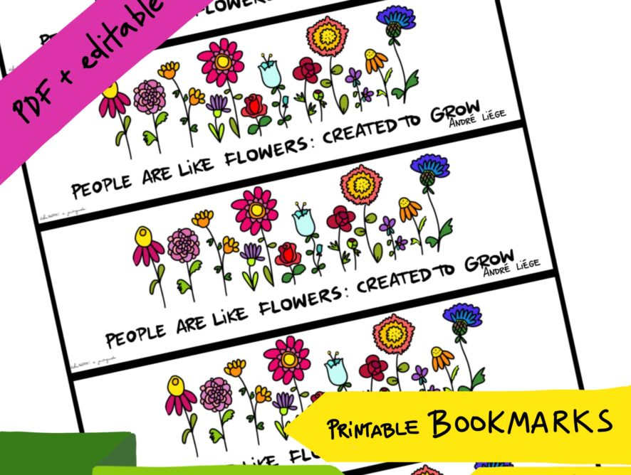 Bookmark FLOWERS #1