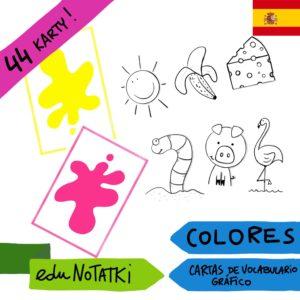 LOS COLORES. CARTAS DE VOCABULARIO GRÁFICOY