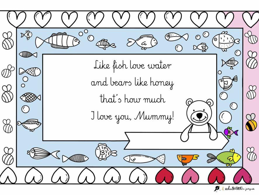 Mother's Day: rysunkowe i rymowane pomysły od eduNOTATEK.